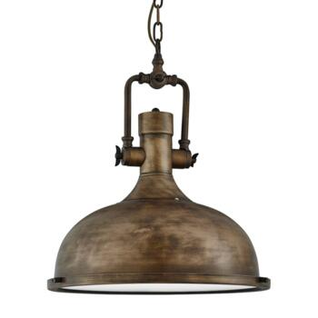 Industrial Pendant with Frosted Diffuser BG - Black Gold