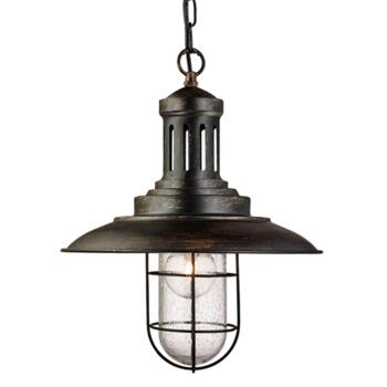 Industrial Fisherman Pendant Caged Shade BG - Black Gold
