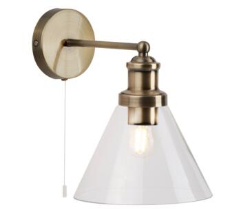 Antique Brass Wall Light - 1277AB