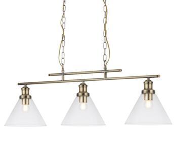 Antique Brass 3 Light Bar Pendant - 1277-3AB