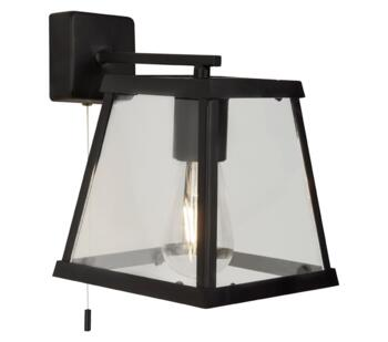 Matt Black Wall Light - 4611BK