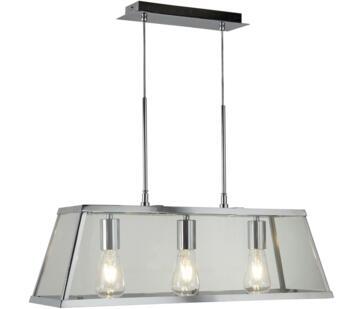 Metal Chrome 3 Light Box/Bar Pendant  - 4613-3CC