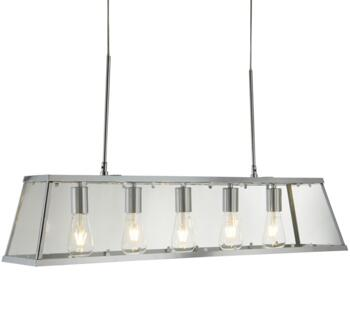 Chrome 5 Light Box/Bar Pendant  - 4614-5CC