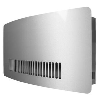 Consort Chelsea 3kW Fan Heater 7 Day Timer Wall Mounted  - Stainless Steel