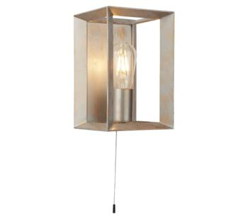 Brushed Silver & Gold Wall Light - 2411SI