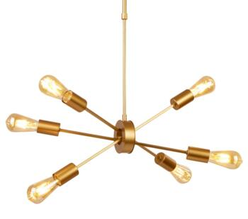 Matt Gold 6 Light Ceiling Pendant - 2906-6GO