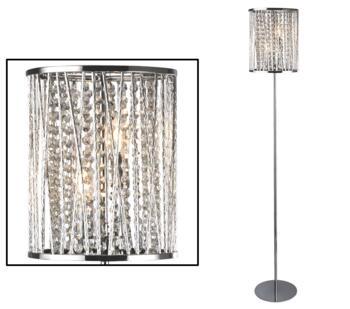 Chrome 2 Light Floor Lamp - 8932CC