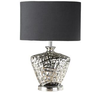 Chrome Cut Out Decorative Base 1 Light Table Lamp - 4552CC