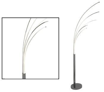 Chrome 5 Light LED Floor Lamp - 5285-5CC