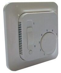 Flexel EB100 Analogue Room Thermostat - Polar White