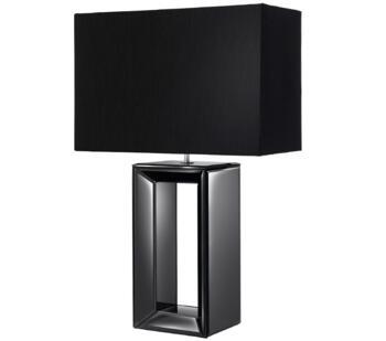 Gloss Black Base 1 Light Table Lamp - 1610BK