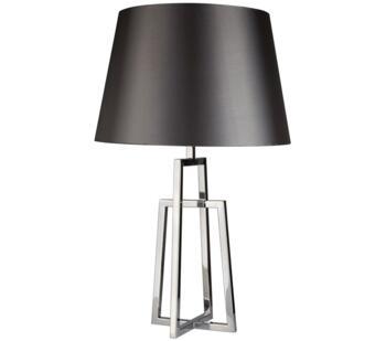 Chrome Crossed Frame Base 1 Light Table Lamp - 1533CC-1