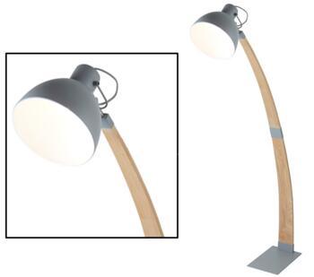 Matt Grey 1 Light Floor Lamp - 1040GY