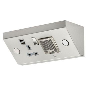 13A 1G Kitchen worktop socket with USB & bluetooth speaker - SKR0014