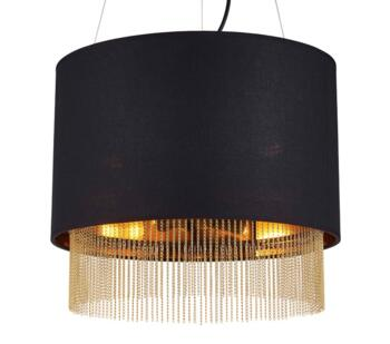 Black 3 Light Ceiling Pendant - 8723-3BK