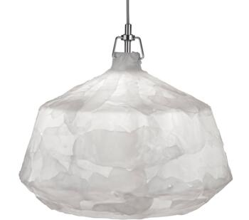 White 1 Light Acrylic Pendant Light - 3396WH