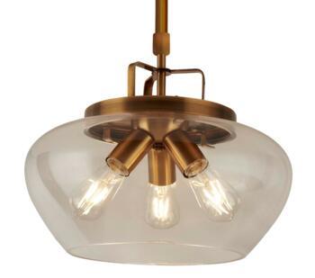 Bronze 3 Light Ceiling Pendant - 8983-3BZ