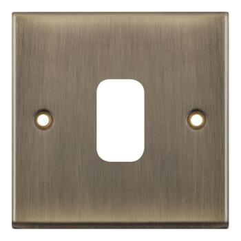 Antique Brass Modular Grid Switch - 1 Gang Empty Plate