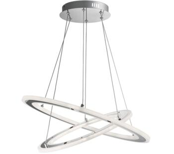 Chrome 2 Hoops LED Pendant Light - 5882-2CC