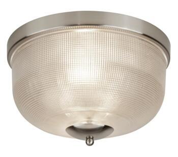 Satin Silver 2 Light Flush Ceiling Light - 1352-2SS