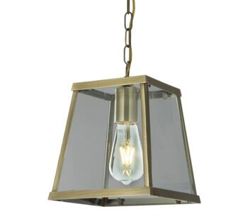 Antique Brass 1 Light Pendant Ceiling  - 4614AB