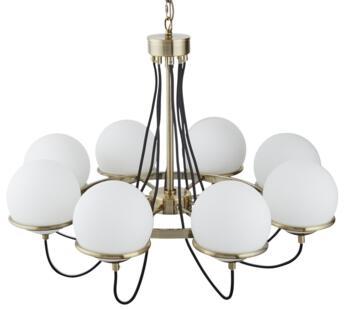 Antique Brass Sphere 8 Light Ceiling Light - 7098-8AB
