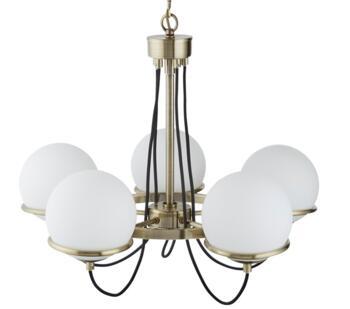 Antique Brass 5 Light Ceiling Light - 7095-5AB