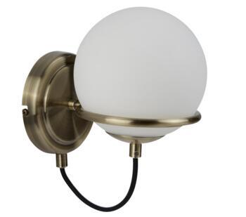 Antique Brass Sphere Wall Light - 7091AB