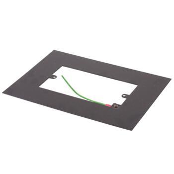 Matt Black Double Light Switch Fingerplate - 810FB Socket Surround
