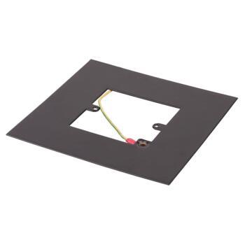 Matt Black Single Light Switch Fingerplate - 809FB Socket Surround