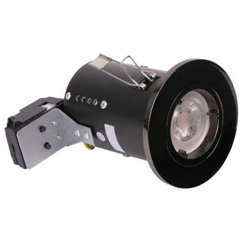 Black Chrome Fire Rated Downlight GU10 - Fitting Only