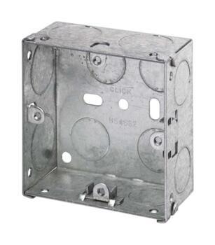 35mm Single Metal Backbox - Single Backbox