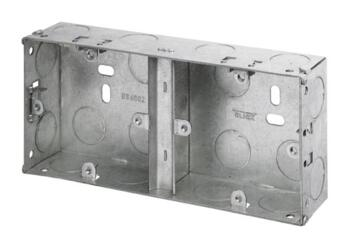 35mm Dual Accessory Metal Backbox - Double Backbox