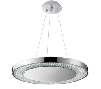 Chrome Halo LED Pendant Light - 58880-80CC