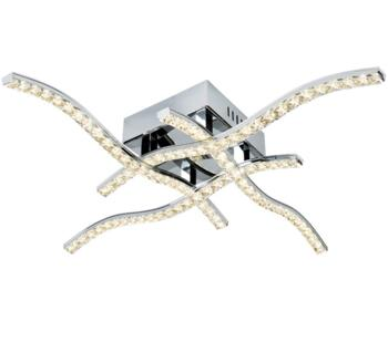 Chrome Anson 4 Arm Flush LED Ceiling Light - 4204-4CC