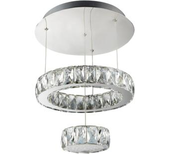 Chrome Clover 2 Tier Flush LED Ceiling Light - 2328CC
