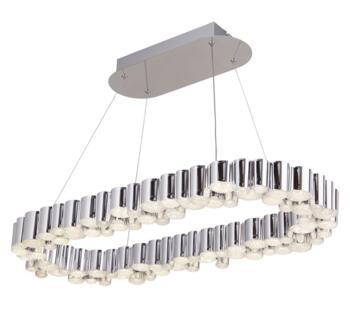 Chrome Darcy LED Oval Ceiling Pendant - 4431CC