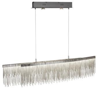 Satin Silver Memphis LED Ceiling Bar - 6061SS