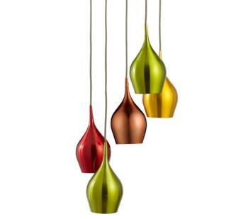Polished Chrome Vibrant 5 Light Ceiling Pendant - 6465-5