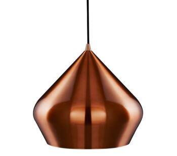 Copper Vibrant 1 Light Pyramid Ceiling Pendant - 8683CU
