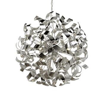 Chrome Curls 6 Light Metal Ceiling Pendant - 5686-6CC