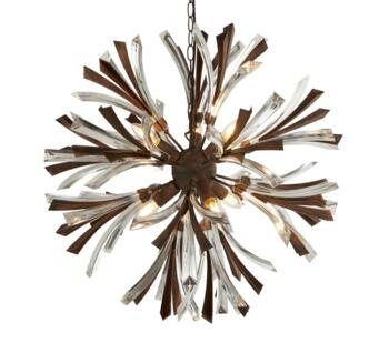 Bronze & Clear Shake 6 Light Ceiling Pendant  - 2576-6BR