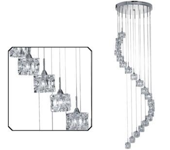 Chrome Ice Cube LED 20 Multi-Light Pendant - 7820-20-LED