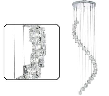 Polished Chrome Sculptured Ice 20 Light LED Pendant  - 6720-20-LED