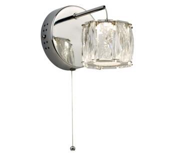 Chrome Maxim Octagon Wall Light - 7763CC