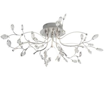 Chrome Willow 5 Light LED Ceiling Light - 8635-5CC