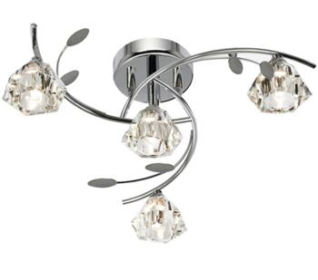 Polished Chrome 4 Light Semi-Flush Ceiling Light - 2634-4CC