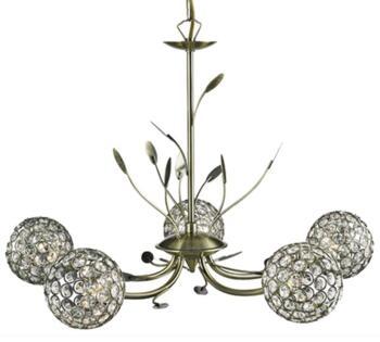 Antique Brass 5 Light Ceiling Light - 5575-5AB