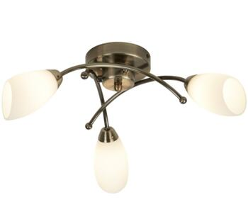 Antique Brass 3 Light Flush Ceiling Light **out of stock till 25/3/21** - 8183-3AB