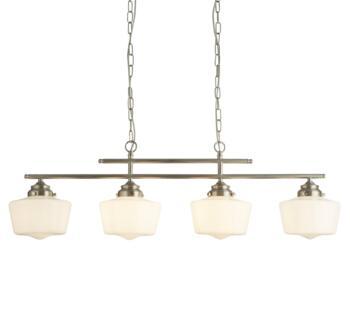 Satin Silver 4 Light Bar Pendant - 8084-4SS